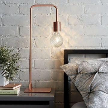 lamparas de mesita de noche con tubos