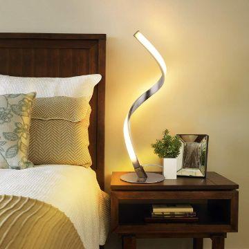 lamparas de mesita de noche formas esculturales