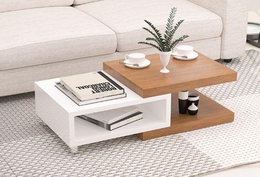 mesas de centro de madera para sala modernas