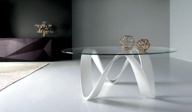 mesas de centro de sala de vidrio bases con arte
