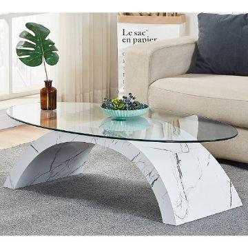 mesas de centro de sala de vidrio originales