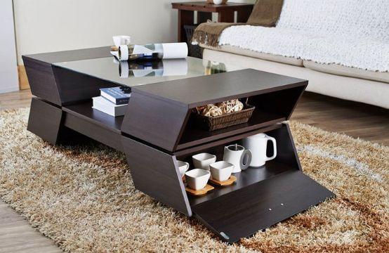 mesas de centro para la sala con compartimentos