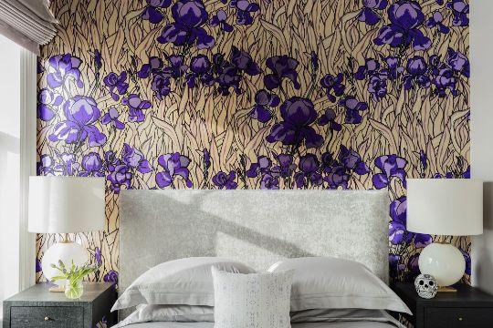 papel tapiz para dormitorios con flores
