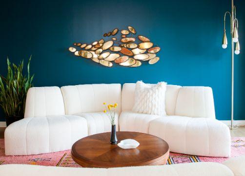 salas de estar pequeñas ideas para muros
