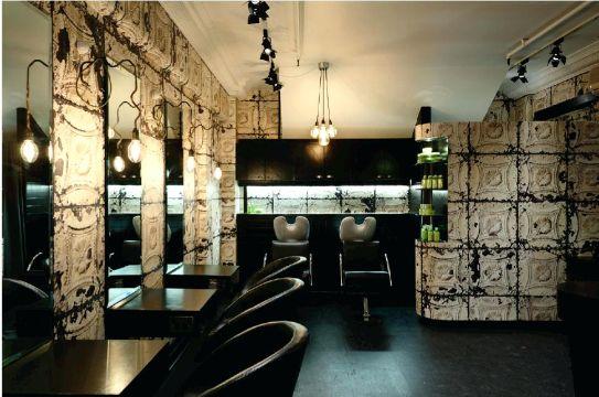 salones de belleza decorados muros con texturas