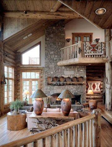 balcones de casas rusticas en interiores