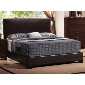 camas modernas tapizadas con cuero u piel