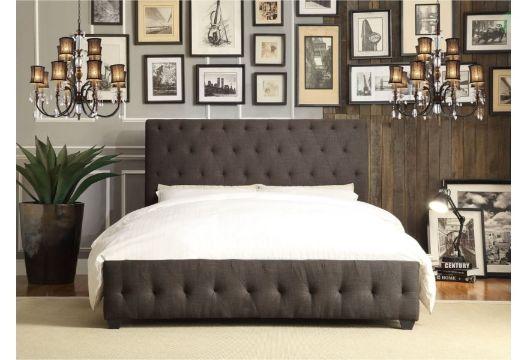 camas modernas tapizadas de manera elegante