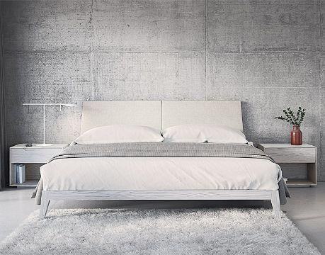 camas modernas tapizadas minimalistas
