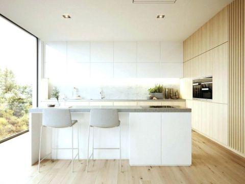 cocinas minimalistas pequeñas blancas