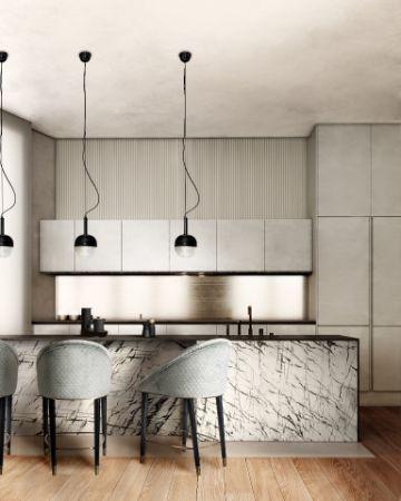 cocinas minimalistas pequeñas diseños artisticos