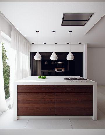 cocinas modernas con barra muebles al centro