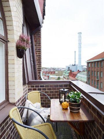 decoracion de balcones pequeños bien organizados
