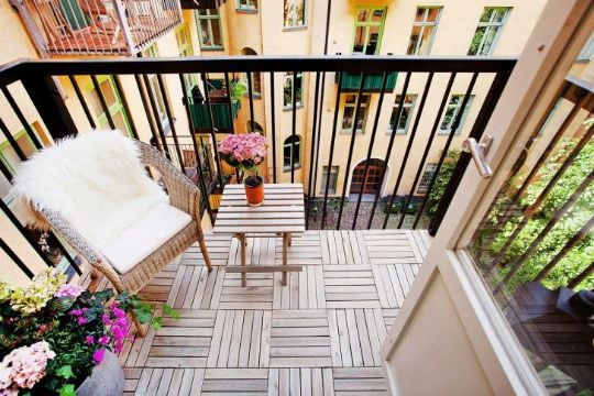decoracion de balcones pequeños pisos originales
