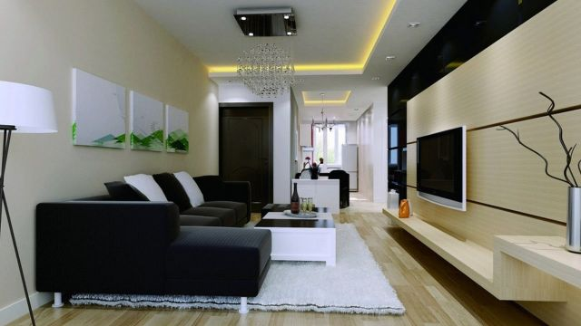 decoracion de salones modernos hermosos contrastes