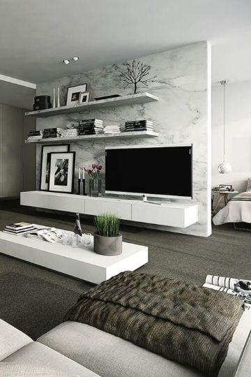decoracion de salones modernos muebles hechos repisas