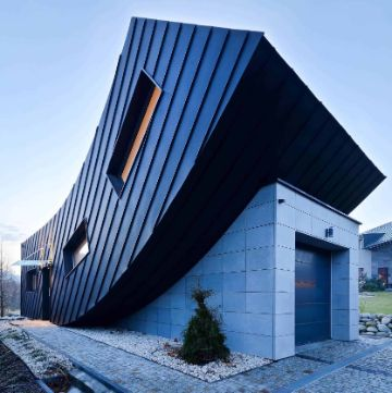 fachadas bonitas de casas pequeñas arquitectura descontructivista