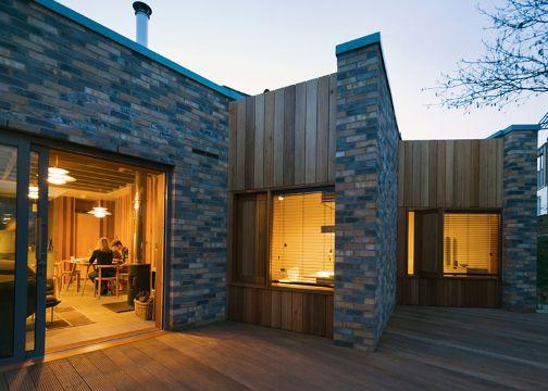 fachadas bonitas de casas pequeñas con piedra