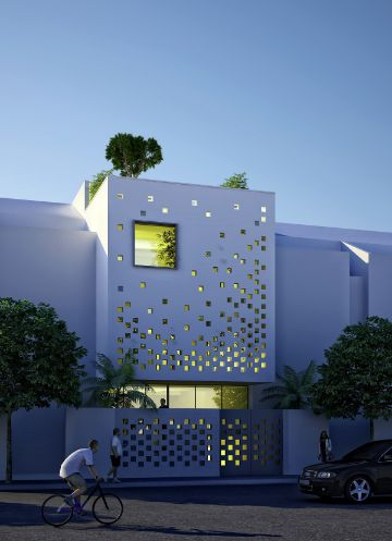 fachadas bonitas de casas pequeñas modernas