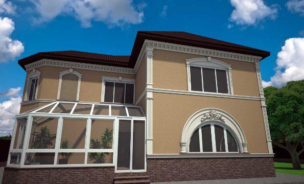 fachadas de casas de dos pisos combinacion de estilos