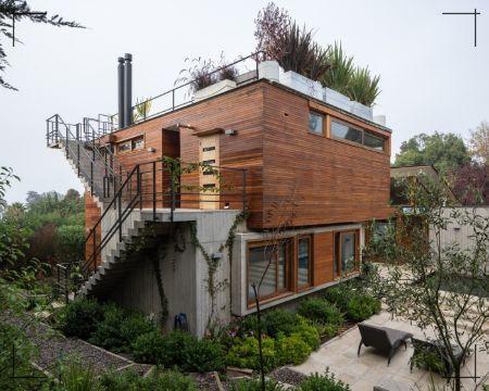 fachadas de casas de dos pisos estilo natural