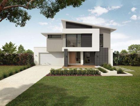 fachadas de casas de dos pisos moderna