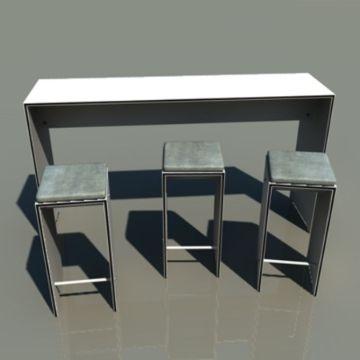 modelos de barras de cocina minimalista