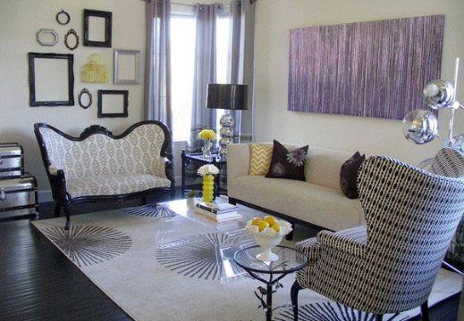 muebles vintage para sala combinacion moderna