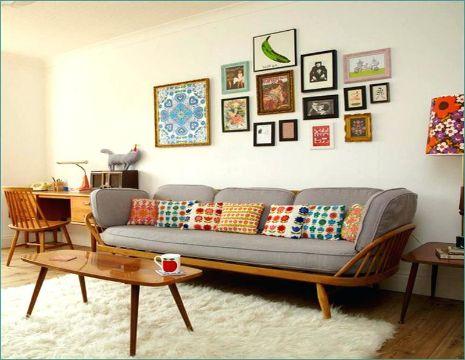 muebles vintage para sala cuadros