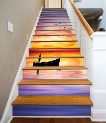 murales y vinilos 3d para escaleras