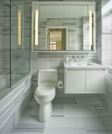 baños pequeños modernos y funcional con hermosos recubrimientos