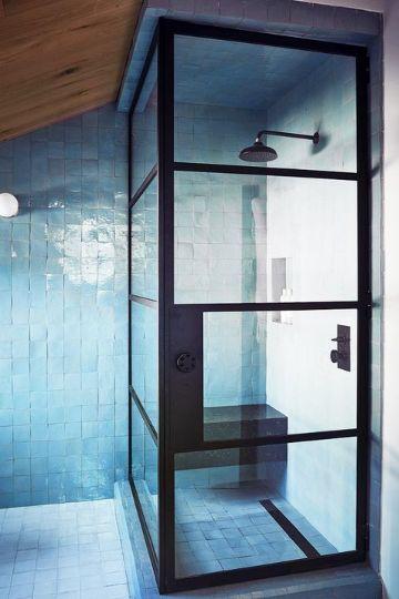 baños pequeños modernos y funcional contrastes