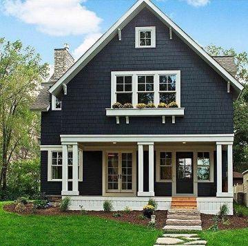 colores para pintar una casa negro exterior