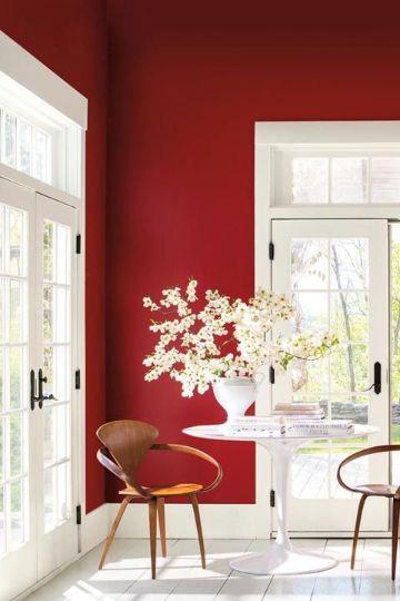 colores para pintar una casa rojo pasion