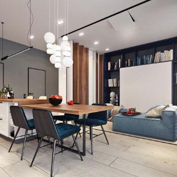 como decorar la sala y comedor con lamparas y pantallas