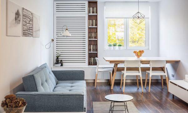 como decorar la sala y comedor minimalistas