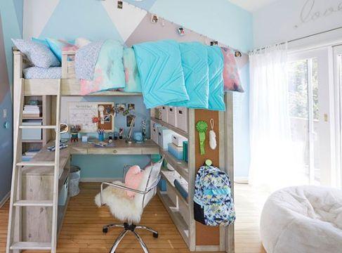decoracion de habitacion juvenil femenina pequeñas
