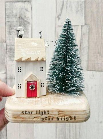 decoraciones navideñas para la casa ornamentos de ceramica