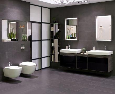 diseños de baños modernos muebles sobre los muros