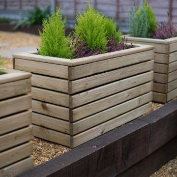 maceteros de madera para terraza modernos