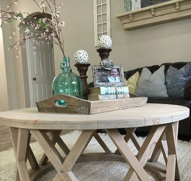 mesas de centro decoradas estilo rustico
