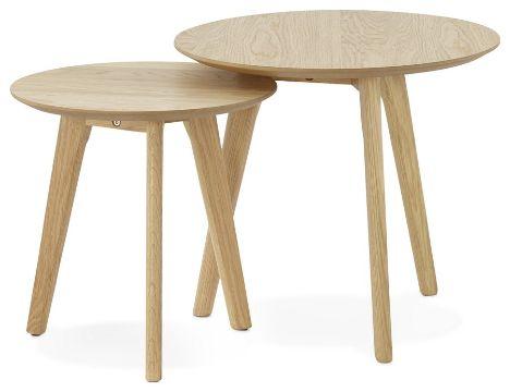 mesas de centro estilo nordico par de mesas