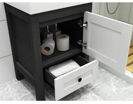 muebles para baño en melamina con cajones