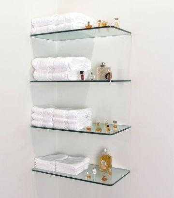 repisas de vidrio para baño conjunto