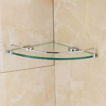 repisas de vidrio para baño esquineros