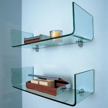repisas de vidrio para baño gruesas y diseños modernos