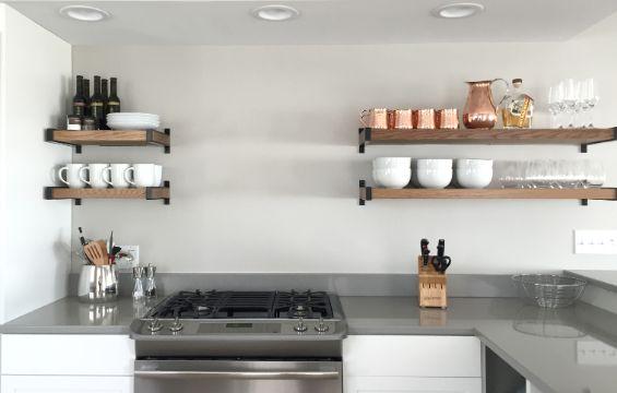 repisas para cocina modernas proporcion en muros