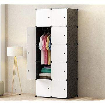 closet para espacios pequeños de tela