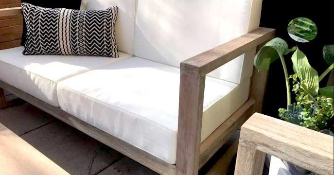 cojines para sala de madera rectangular