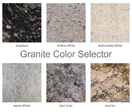 colores de granito para cocina catalogo